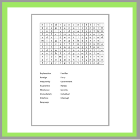 Make a word search