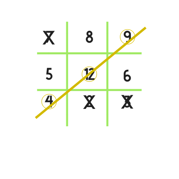 noughts and crosses completed game