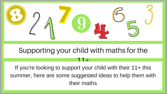 Supporting your child with maths for the 11+ blog banner