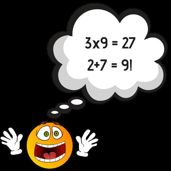 3x9 = 272+7 = 9 shocking fact